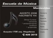 Escuela de m�sica Montevideo.