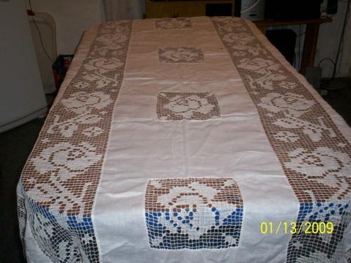 Manteles de venta bordados antiguo mantel bordado a mano con encaje de bol comprar manteles - Manteles bordados ...