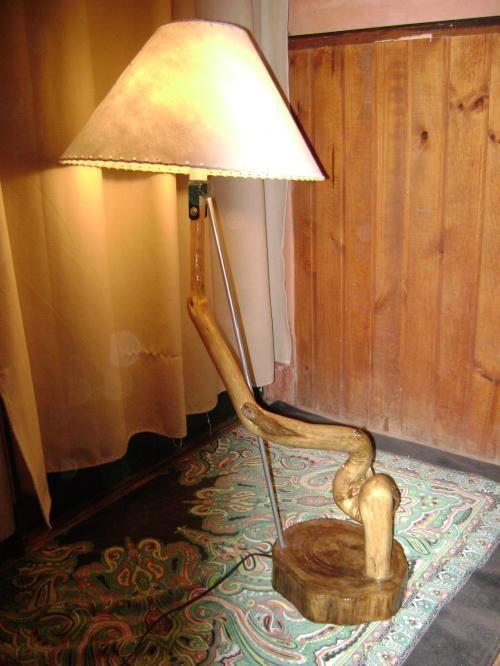 Fotos de lamparas artesanales de fierro o madera en regi n - Lamparas de pie artesanales ...