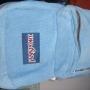 Vendo mochila JANSPORT original de pana cesleste divina ¡Baratísima!