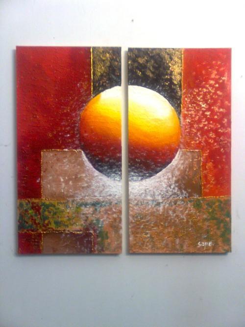 cuadros modernos abstractos dpticos trpticos