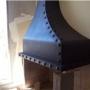 estufas campanas hierro leña uruguay artesanales  caños ductos en chapa cn alumino