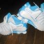 championes Nike shox color blanco y fuccia