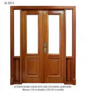 Puerta ventana de madera usada for Puertas balcon usadas
