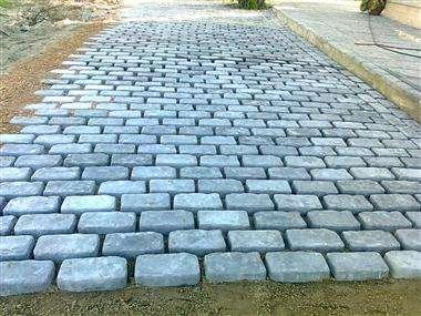 Baldosas para jardin piso de cemento para jardin como for Baldosones para patio