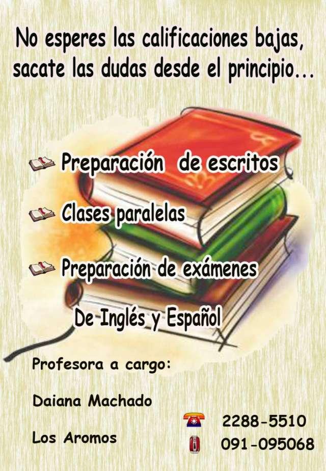 Clases particulares de  idioma español e inglés