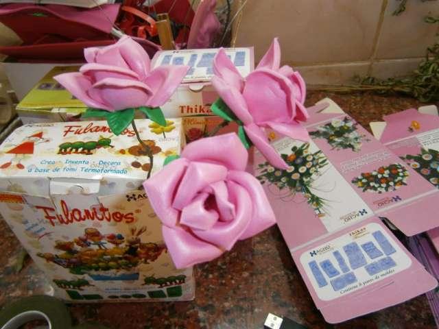 Fotos de moldes para hacer flores en goma eva kit 5 moldes x $ 1000 en