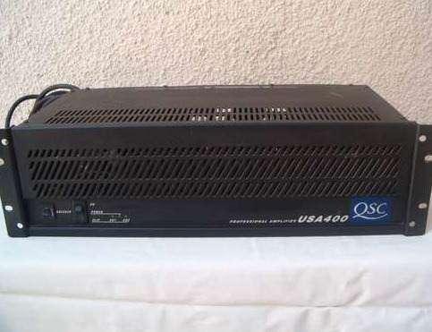 Vendo potencia qsc 400usa (usada no tiene mas de 1 año y medio de uso )