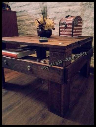 Mesa ratona rustica hecha con pallets en cerrito, uruguay   muebles
