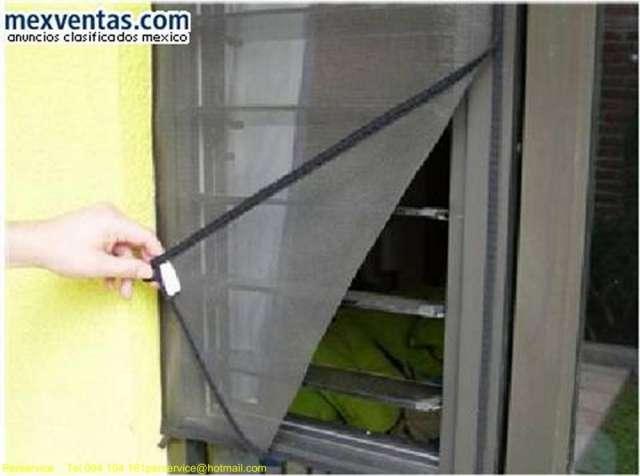 Colocacion de mosquiteros materiales de construcci n for Mosquitero magnetico