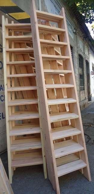 Como hacer una escalera de madera economica barandilla con solera with como hacer una escalera - Fabricar escalera de madera ...