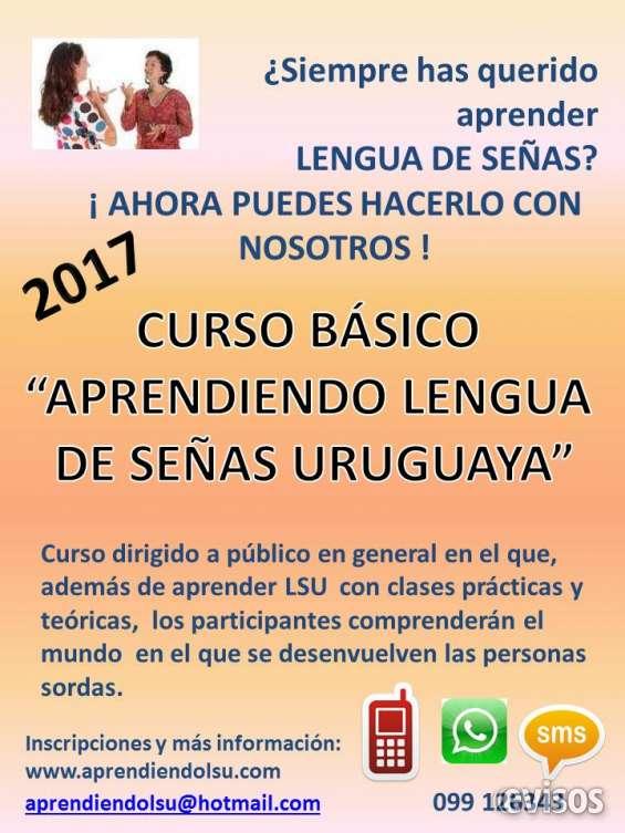 """Curso básico """"aprendiendo lengua de señas uruguaya"""""""