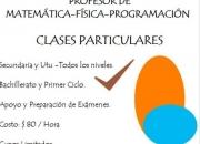 Clases particulares matematica-fisica-programacion bachillerato -utu