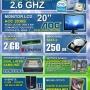COMPUTADORE DUAL CORE MUY POTENTE + LCD 20