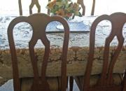 Juego de comedor con mesa de vidrio