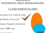 Clases particulares matematica-fisica-programacion liceo y utu