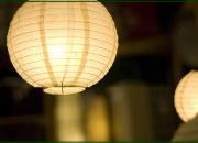 Pantallas de papel para techo - globos de papel - lámparas - iluminación - decoración