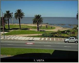 Alquiler temporario montevideo uruguay apartamento vista rambla pocitos - 2 dormitorios - short long term rent