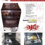 Coninas Rotel Brasil de Luxe 4 H, Quemadores de Bronce,Acero Inox,Enc.elct.Luz. Garantía 2 Años!