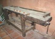 Banco de carpintero, mesa curupay, base pinotea