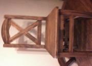 comedor mesa y 6sillas  tapizado y otro rústico