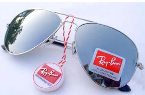 lentes ray ban aviator silver