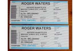 Entradas roger waters bsas primer show! 7/2 liquido!!!!