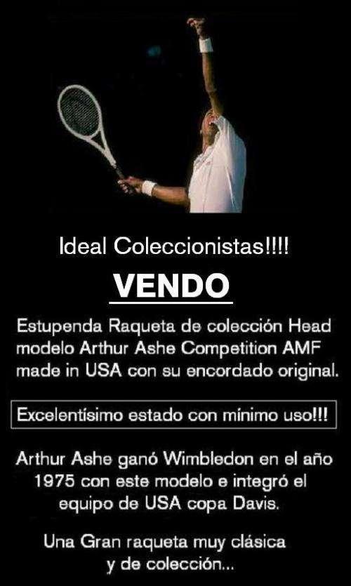 Vendo una gran raqueta famosa en wimbledon... ideal coleccionistas!!!