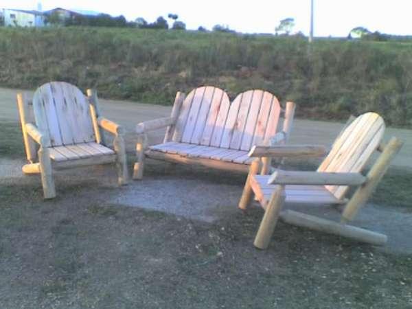 Juego de sillones para jardín fabricados en eucaliptus grandis con ...