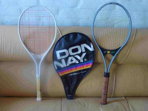 2 raquetas (1 wilson pro jr. / 1 donnay) + 1 funda donnay