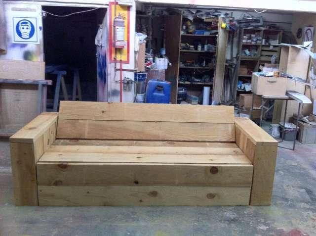 Sillones De Madera Para Jardin Silln Madera Banco Mesa Hamaca - Como-hacer-un-sillon-de-madera