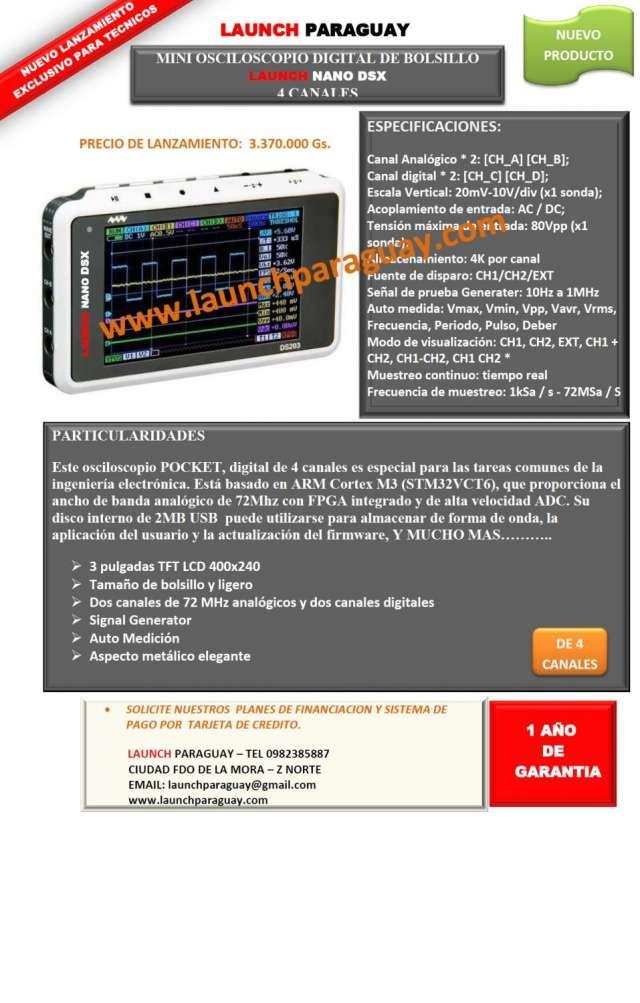 Mini osciloscopio digital de bolsillo launch nano dsx 4 canales..!