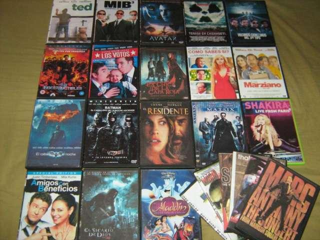 Películas formato dvd_ lote de 24 películas $800