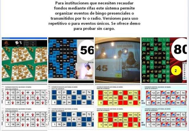 1000 cartones de bingo digital/lotería + programa de control