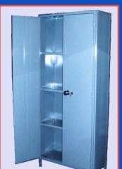 Armario metálico 2 puertas estantes regulables