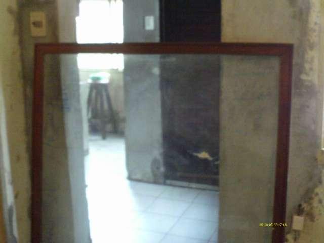 Vidrio grande con marco