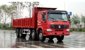Carro de descarga de camiones de construcción de ingeniería»» sla3311z6 haoli cuatro ocho frente al revés dump truck