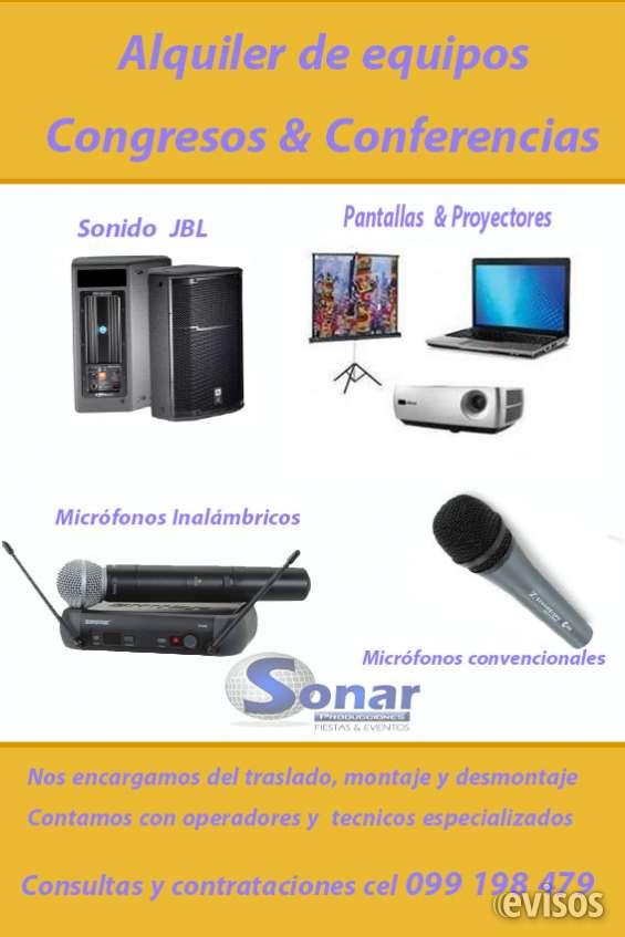 Alquiler de sonido, pantallas y proyectores para congresos en punta del este