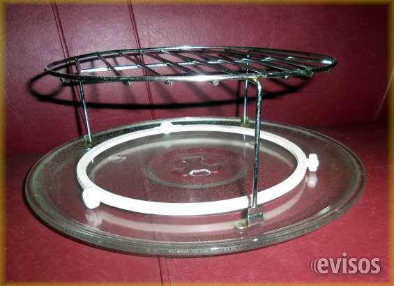 Plato para microondas + soporte rejilla + giraplato