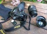 Kit Completo De Fotografía Profesional Nikon D3000