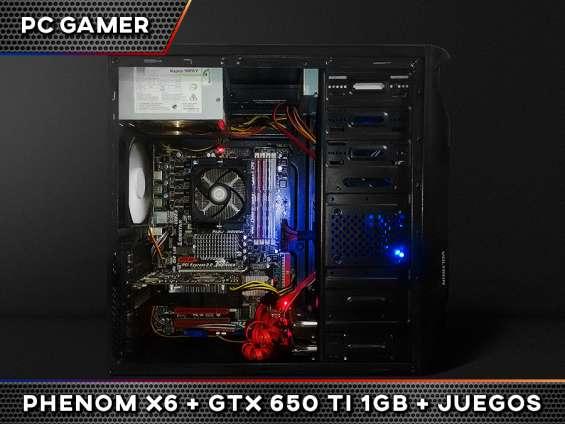 Pc gamer +juegos | amd phenom x6 | 12gb | gtx 650ti 1gb