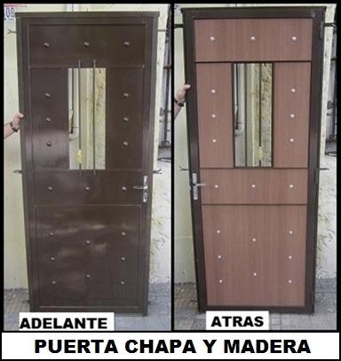 Puerta chapa y madera en carrara!!!