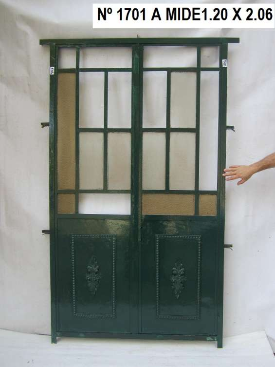Puerta de hierro tel: 22036409 carrara demoliciones