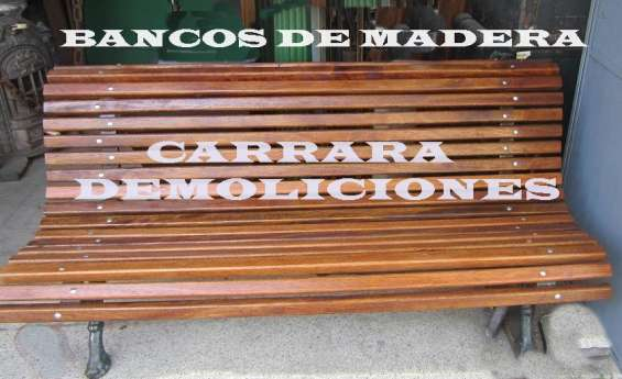 Banco de madera tel 22036409 patas fundición  tipo plaza muchas tablas