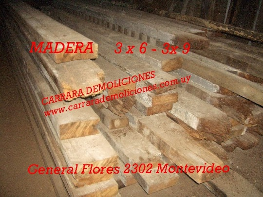 Tirantes 3 x 6 y 3 x 9 madera carrara demoliciones