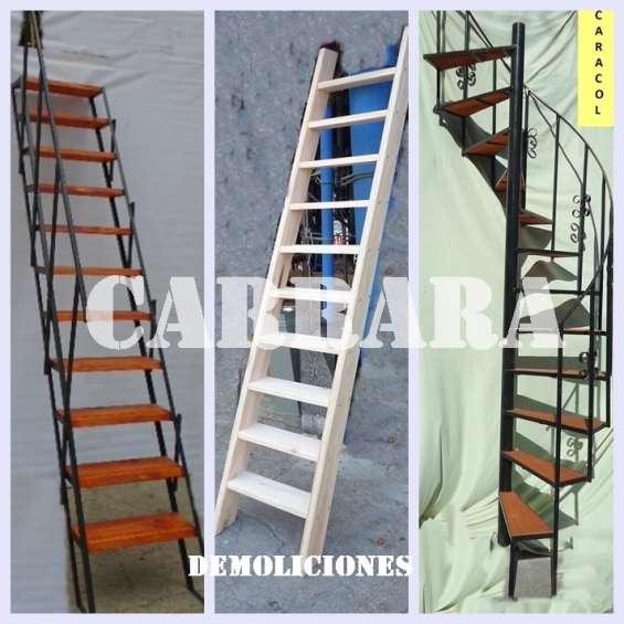 Escaleras de madera, hierro, carrara tel: 22035217