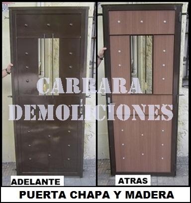 Tel: 22036409 puerta de calle chapa y madera