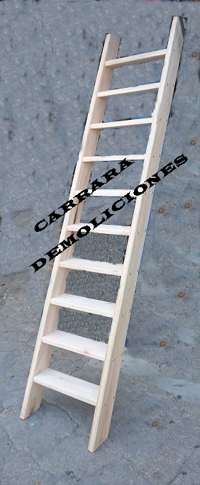 Escalera tel: 22035217 madera recta carrara demoliciones