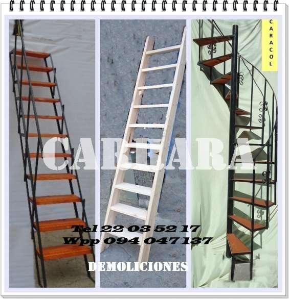 Escaleras tel: 22035217 caracol rectas madera hierro entrepisos exterior carrara