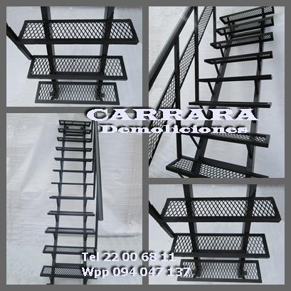 Tel: 22035217 escalera de hierro con escalones de rejilla carrara demoliciones